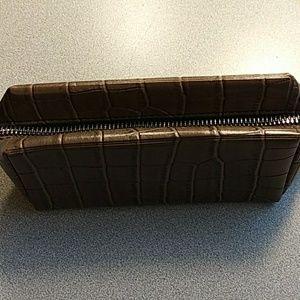 Michael Kors Croc Embossed Pouch Zip Bag